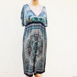 Christina Love Kimono Mini Sun Dress XL